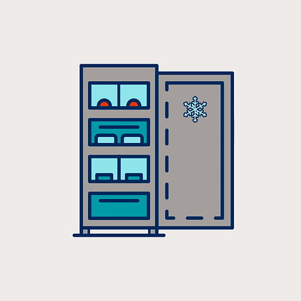 To keep things under control, use bins in the freezer for better organization.