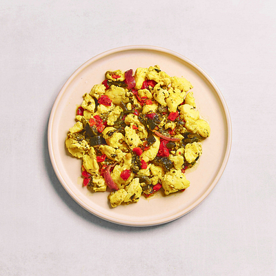 Salsa Verde Breakfast Scramble
