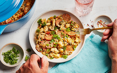 Cadence Kitchen Feature: Chicken & Sausage Jambalaya